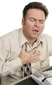 dolor en el pecho y dificultad para respirar